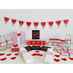 décoration table saint valentin