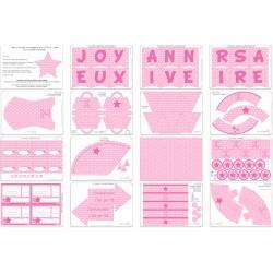 Kit étoiles roses